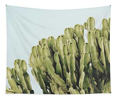 Cactus And Sky Vintage II Tapestry