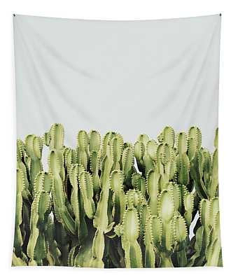 Cactus And Sky Vintage IIi Tapestry