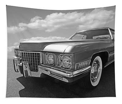 Cadillac Coupe De Ville 1971 In Black And White Tapestry
