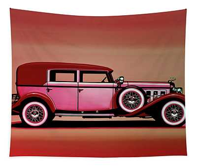 Cadillac V16 Mixed Media Tapestry