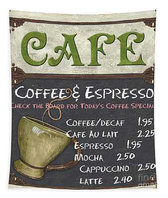 Cafe Chalkboard Tapestry