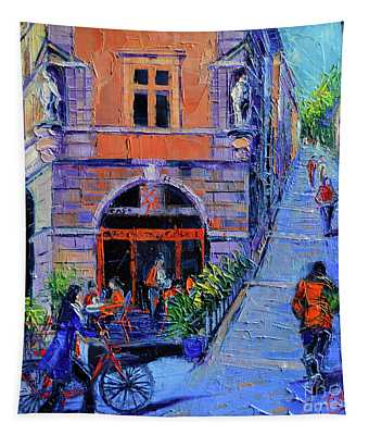 French Impressionist Mixed Media Wall Tapestries