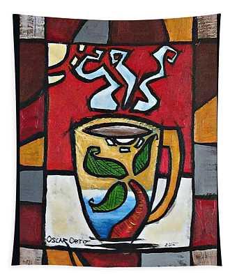 Cafe Palmera Tapestry