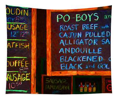Cajun Menu Alligator Sausage Poboy - 20130119 Tapestry