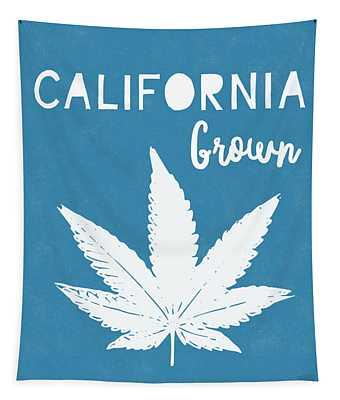 California Grown Cannabis- Art By Linda Woods Tapestry