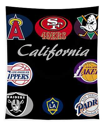 California Professional Sport Teams Collage  Tapestry