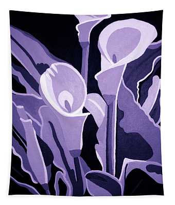 Calla Lillies Lavender Tapestry
