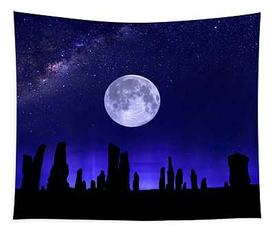 Callanish Stones Under The Supermoon.  Tapestry