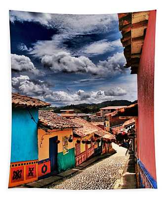 Calle De Colores Tapestry