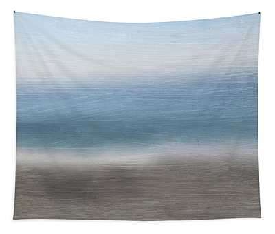 Calm Coast 2-  Art By Linda Woods Tapestry