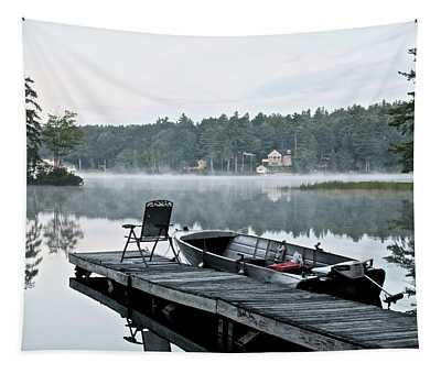 Calm Morning On Little Sebago Lake Tapestry