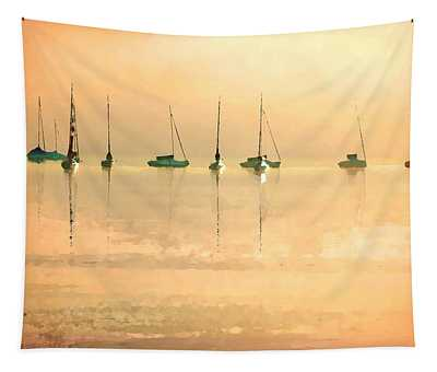 Tapestry featuring the digital art Calm Waters by Shelli Fitzpatrick