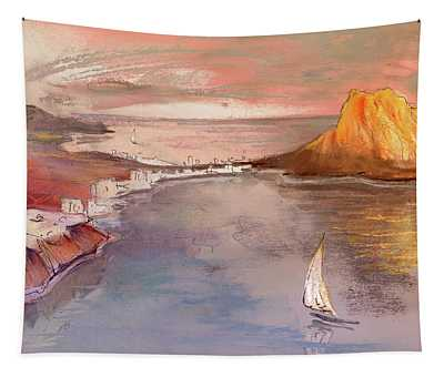 Calpe At Sunset Tapestry