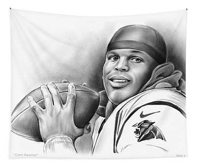 Cam Newton Tapestry