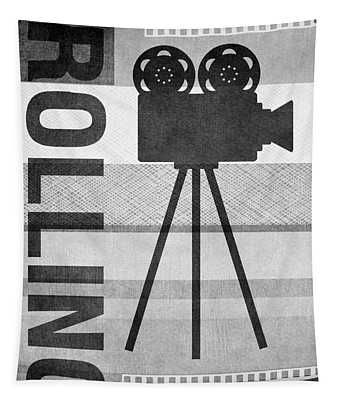 Cameras Rolling- Art By Linda Woods Tapestry