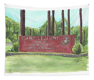 Camp Lejeune Welcome Tapestry