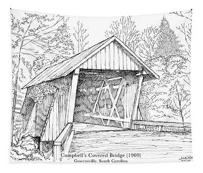 Campbell's Covered Bridge Tapestry