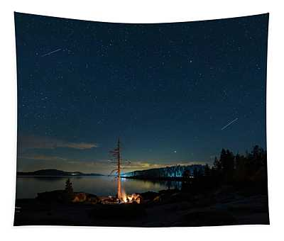 Tapestry featuring the photograph Campfire 1 by Jim Thompson