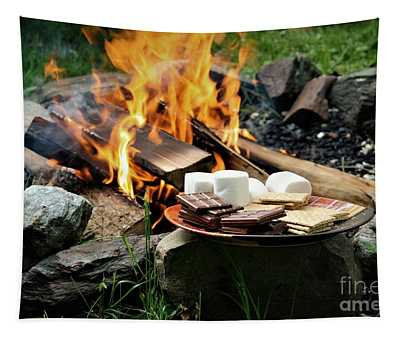 Tapestry featuring the photograph Campfire S'mores by Patti Whitten