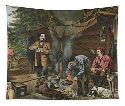 Camping In The Woods  A Good Time Coming Tapestry