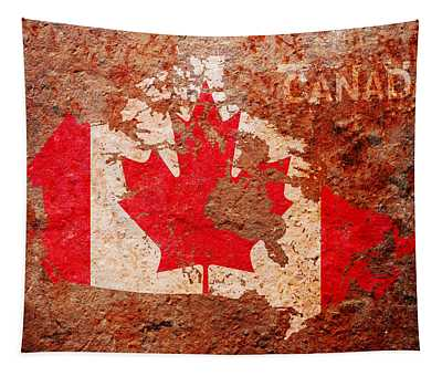 Canada Flag Map Tapestry