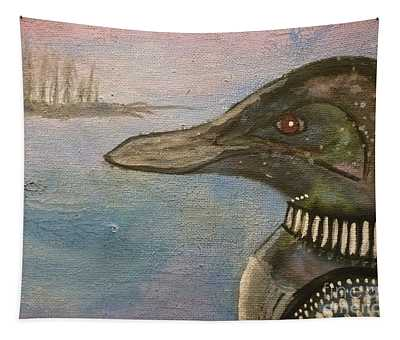 Canadian Loon Tapestry