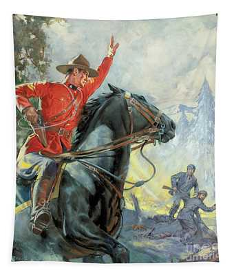 Canadian Mounties Tapestry