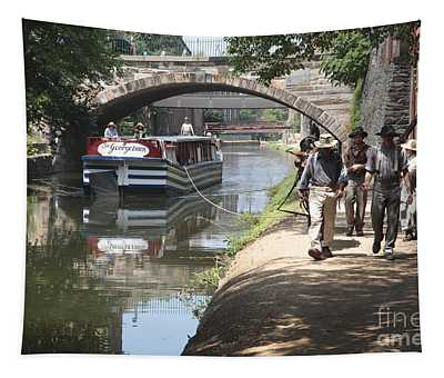 Canal Boat And Mule Team On The C And O Canal In Georgetown In Washington Dc Tapestry