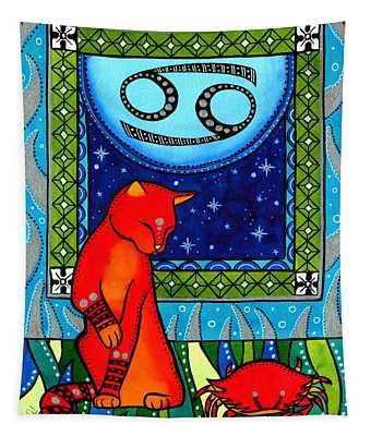 Cancer Cat Zodiac Tapestry