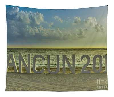 Tapestry featuring the photograph Cancun In 2015 by Gary Keesler