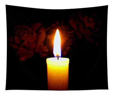 Candlelight And Roses Tapestry