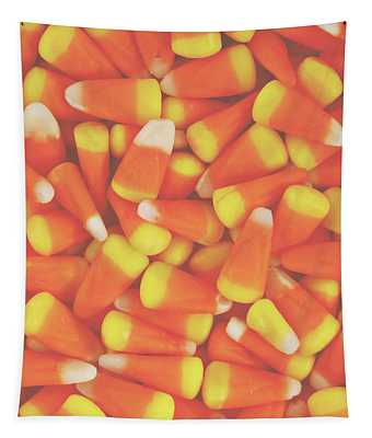 Candy Corn Square- By Linda Woods Tapestry
