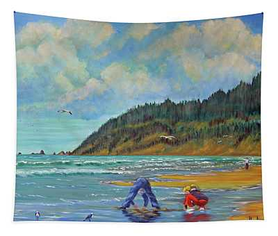 Cannon Beach Kids Tapestry