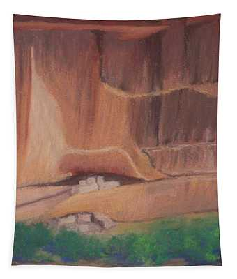 Canyon De Chelly Cliffdwellers #2 Tapestry
