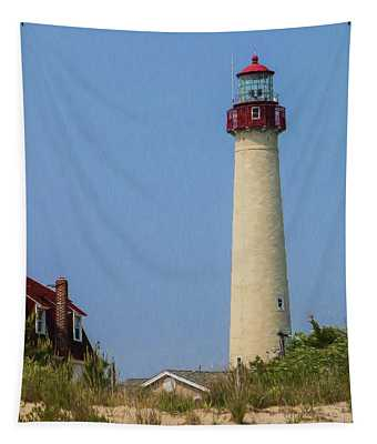 Cape May Lighthouse Vertical Tapestry