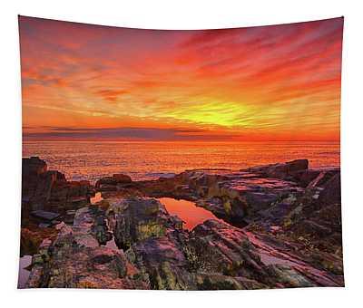 Cape Neddick Sunrise Tapestry