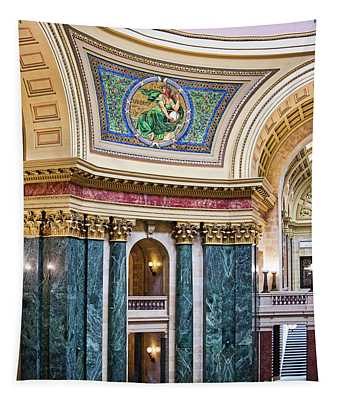 Capitol Rotunda -madison - Wisconsin Tapestry