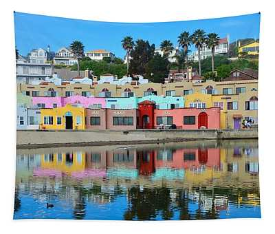 Capitola California Colorful Hotel Tapestry