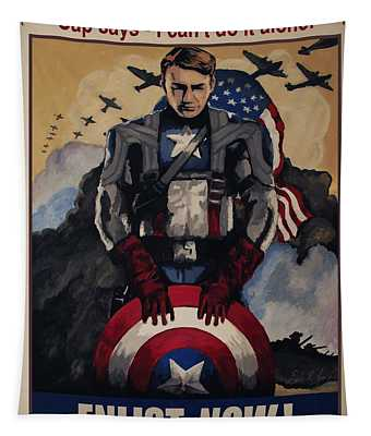 Captain America Recruiting Poster Tapestry