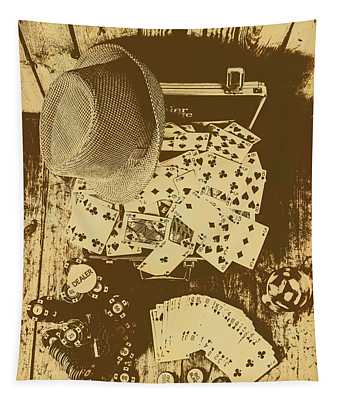 Card Games And Vintage Bets Tapestry