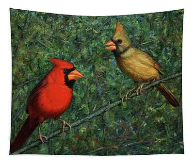 Cardinal Couple Tapestry
