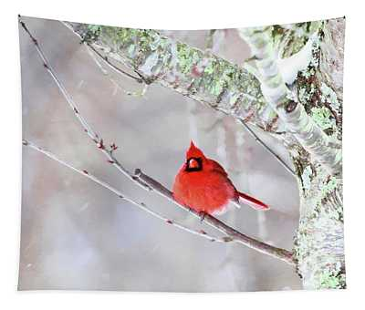 Cardinal Painting Tapestry
