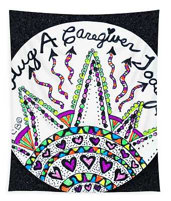 Caregiver Hugs Tapestry
