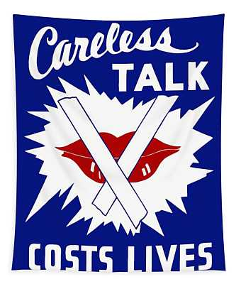 Careless Talk Costs Lives  Tapestry
