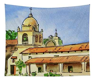 Carmel By The Sea - California Sketchbook Project  Tapestry