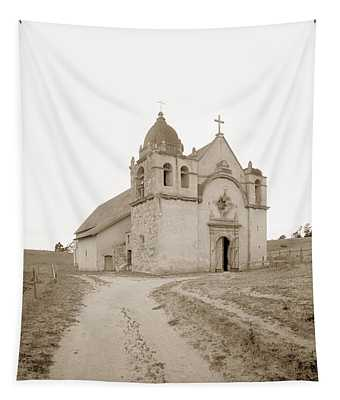 Carmel Mission South Side Circa 1915 Tapestry