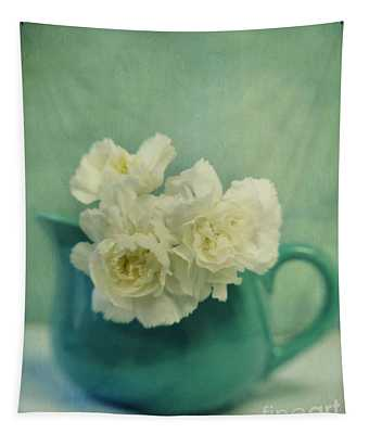 Carnations In A Jar Tapestry
