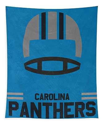 Carolina Panthers Vintage Art Tapestry