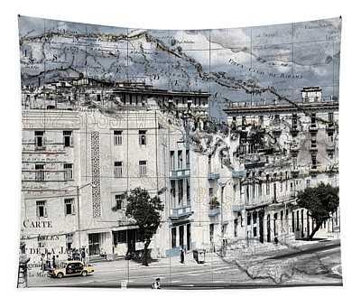 Carte Isle De Cuba Tapestry