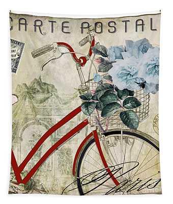 Carte Postale Vintage Bicycle Tapestry